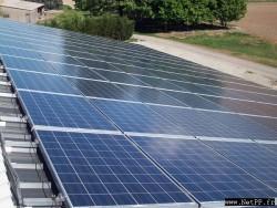 Nettoyage de centrale photovoltaïque Batiment céréalier